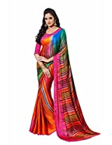 Rajshri Fashions Crepe Saree (116 _Multi-Coloured)