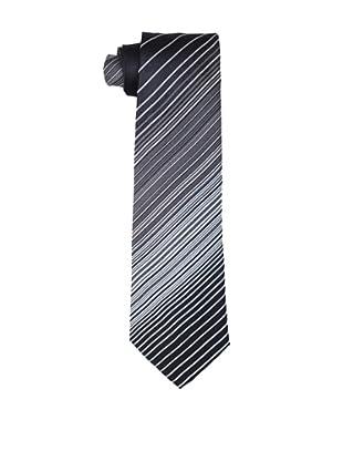 Valentino Men's Fine Striped Tie, Black/Blue