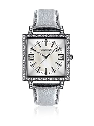 K&Bros  Reloj 9148 (Blanco / Plateado)