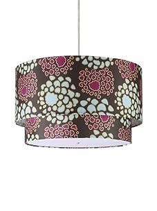 Inhabit Floral Hudson Double Pendant Lamp (Plum/Cornflower)