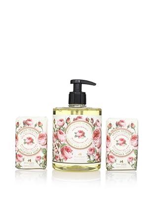 Panier des Sens Rejuvenating Rose Liquid Soap and Vegetable Soaps, Set of 3
