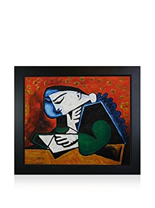 Pablo Picasso Girl Reading Framed Oil Painting, 20 x 24