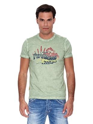 Pepe Jeans London Camiseta Surfer (Verde Claro)