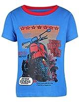Babyhug Half Sleeves T-shirt - Motorbike Print