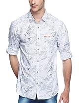 SPYKAR Men Cotton White Casual Shirt (X-Large)