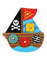 Stephen Joseph Pirate Wooden Peg Puzzle