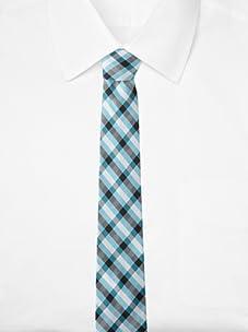 Ben Sherman Men's Westin Plaid Tie (Aqua)