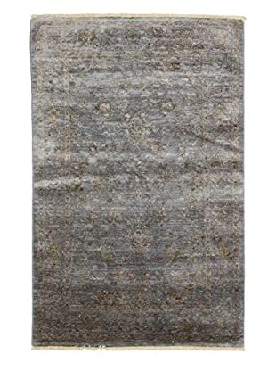 Solo Rugs Ziegler One of a Kind Rug, Green, 4' x 6'