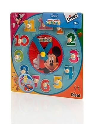 Diset Mickey Display Puzzle Reloj Madera