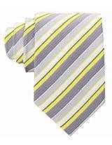 Scott Allan Men's Striped Tie - Yellow & Gray
