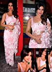 Designer Indian Stylish Bollywood Star Fashion Replica Priyanka Style Light Pink Saree Sari