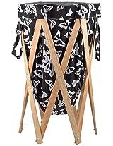 Orya Wood Laundry Basket- (L x B x H- 12.7 x 10.16 x 71.12 cms)