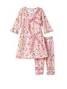 4EverPrincess Girl's Sheila Dress with Legging (Pink Floral)