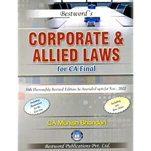 Corporate and Allied Laws for CA Final