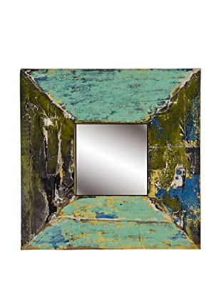 Foreign Affairs Reclaimed Boat Wood Mirror