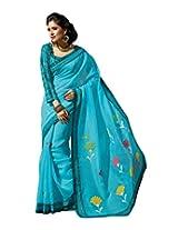 Triveni Blended Cotton Saree (TSMRCC146_Blue)