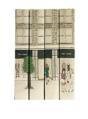 By Its Cover Decorative Reclaimed Books Window Shoppers Series V, Set of 4
