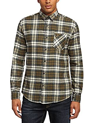 Selected Homme Camisa Hombre Pantelleria (Verde)