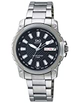 Q&Q Analog Black Dial Men's Watch - A166N202Y