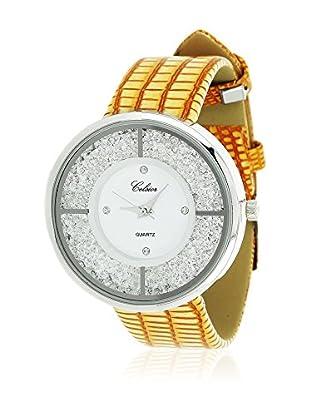 SHINY CRISTAL Uhr mit Japanischem Quarzuhrwerk  silber/weiß 40 mm