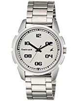Fastrack Silver Dial Watch For Men-3124SM01