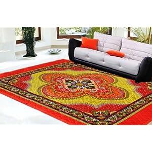 Decorvilla Traditional Design Quilted Carpet (CP039)