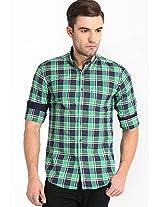 Checked Green Casual Shirt