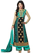 CrazeVilla women Blue color party wear straight salwar suit
