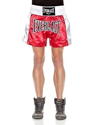 Everlast Pantalón Corto Thai Boxing (Rojo / Blanco)