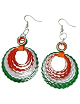 Designer's Collection Paper Quilling Ear Rings for Women(Tri colour)-DSERE004