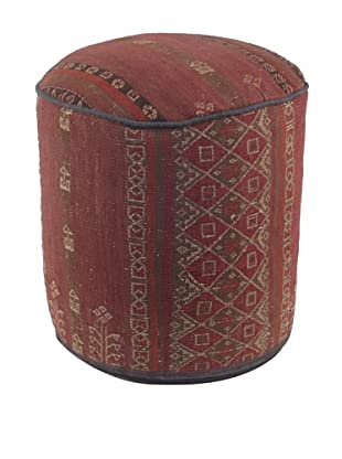 "One of a Kind Hand Made Ottoman, 16"" x 15"" x 15"""