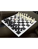 StonKraft 17'' x 17'' Tournament Chess Vinyl Foldable Chess Game Without Pieces - Ideal for Professional Chess Players