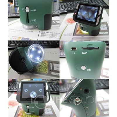: 電子ルーペ ViewPe[ビューペ] 3R-MSV35 マイクロスコープ デジタル顕微鏡 高機能 低価格 読書 植物 研究 肌チェック