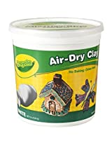 2 PACK Crayola Air Dry Clay 5 Lb Bucket, White, (57-5055)