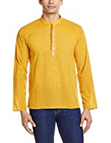 Veda Men's Mid Thigh Cotton Kurta