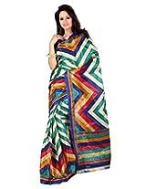 Surat Tex Blue Art Silk Wear beautiful sarees Without Blouse Piece