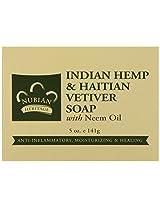 Nubian Heritage Bar Soap Indian Hemp And Haitian Vetiver - 5 Ounce, 6 Pack
