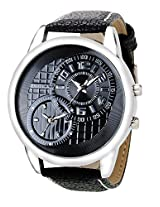 Exotica Black Dial Analogue Watch for Men (EF-50-Dual-LS-B)