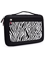 Kroo Slim 11-Inch Tablet Case with Carrying Handle - Zebra (ND11HDZ1-6491)