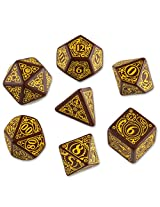 Steampunk Dice Brown/Yellow (7 Stk.) Board Game
