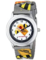 Red Balloon Kids W000329 Construction Site Stainless Steel Time Teacher Printed Strap Watch