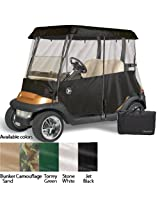 Greenline 2 Passenger Drivable Golf Cart Enclosure (Jet Black, 90x48x62-Inch)