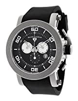 Cyclone Chronograph Black Dial And Silicone Strap White Accents (30465-01-Wa)
