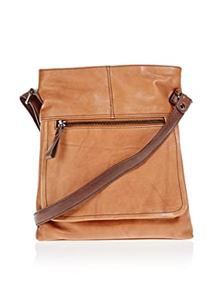 Borella Leder Cross-Body Bag (Tan)