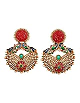 Sunehri Peacock Crafted Ethnic Earrings for Women