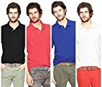 Polo T-Shirts Pack Of 4 Black,Red,White,blue