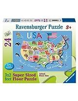 USA Map Floor Puzzle, 24-Piece