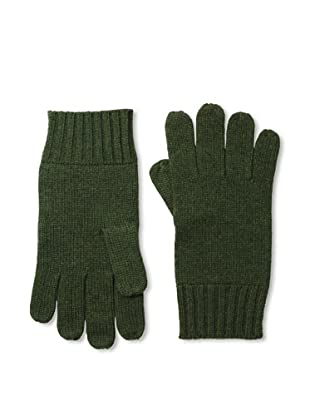 Cashmere Addiction Men's Solid Cashmere Gloves, Olive