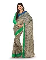 Fabdeal Indian Multicoloured Pure Georgette Printed Saree Sari Sarees-QIWSR456CAL