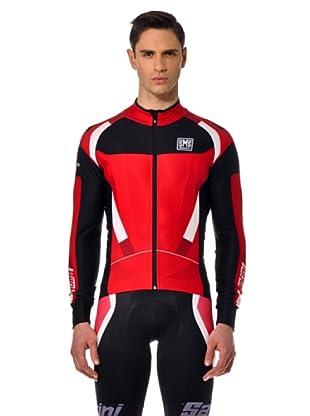 Santini Shirt Zip (rot/schwarz)